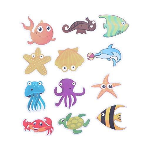 TOPBATHY Badewannenaufkleber, selbstklebend, rutschfest, Badewanne, Kinder, Dusche, Meerestiere, selbstklebend, Badezimmerzubehör