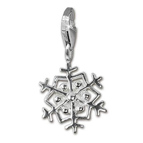 SilberDream Charm 925 Echt Silber Armband Anhänger Schneeflocke FC3115