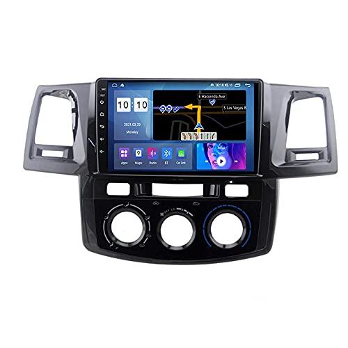 Android 10.0 Car Stereo 2 DIN Radio para T-oyota Fortuner 2008-2014 Navegación GPS Unidad Principal de 9 '' Reproductor Multimedia MP5 Receptor de Video con 4G / 5G WiFi Carplay