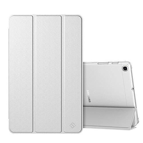 Fintie Hülle für Samsung Galaxy Tab A 10,1 SM-T510/T515 2019 - Superdünn Schutzhülle mit durchsichtiger Rückseite Abdeckung Cover für Samsung Galaxy Tab A 10.1 Zoll 2019 Tablet, Silber