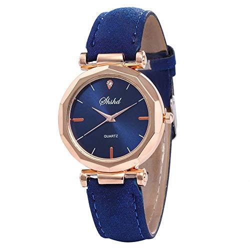 EVANA Relojes Mujer Acero Inoxidable Reloj de Pulsera marcar Moda Impermeable Clásicos Diseño Analogicos Cuero Reloj de Cuarzo para Mujer Unisexo Negocio Casual