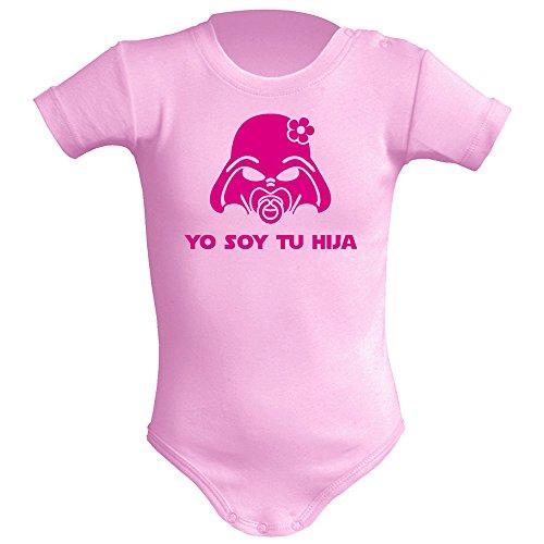 Body bebé unisex Yo soy tu hija. Parodia Yo soy tu padre. Regalo original. Body friki. Manga corta....