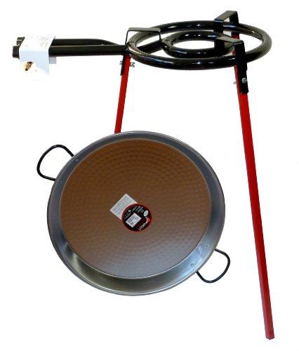 Set de repostería para niños Paella - 350 mm doble grabadora 46 cm Paella de acero pulido