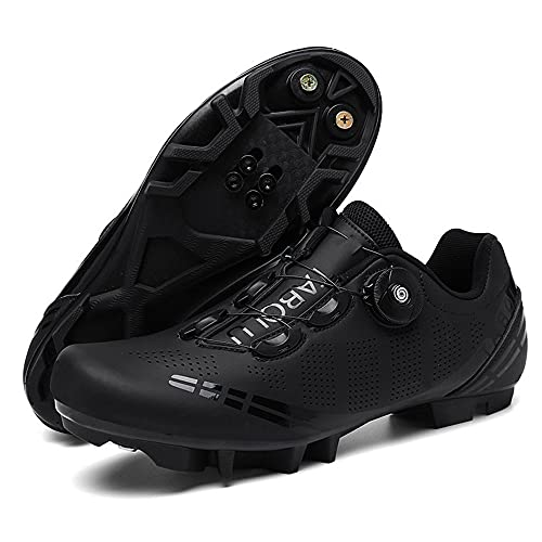 1 Pair Cycling Shoes Men Women Breathable Bike Cleats Sneakers Outdoor Sport Self Locking MTB Road Bicycle Shoes 43