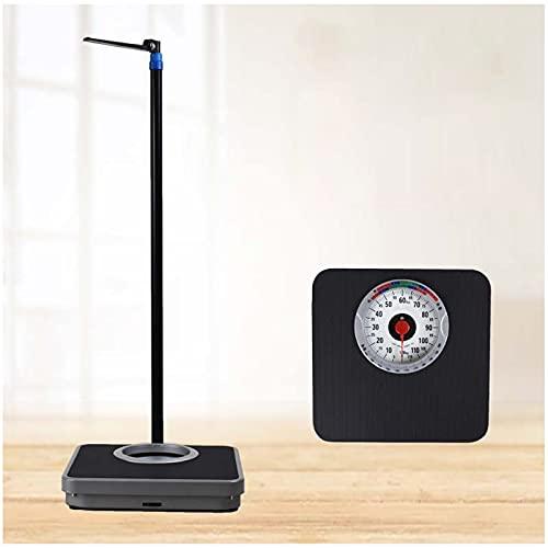 Screen magnifier Bilancia Pesapersone Digitale, Bilancia Medica per Peso Corporeo E Altezza,aste Telescopiche 71-190 Cm (28-75 Pollici),capacità Fino A 120 Kg/265 Libbre,Senza Batteria