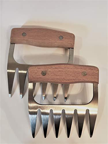 BBQ Guzzler Fleischgabeln, Pulled Pork Krallen 1 Set (Metall, Silber)