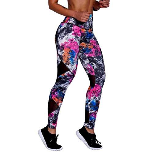 Leggings Dames Dames Imprimer Leggings Taille Haute Sport Pantalons Mode Chic Yoga Fitness Sports Courir Pantalons Leggings (Color : Hot Pink, One Size : M)