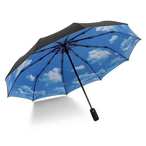 NFHBBAA Parapluie Pliant Automatique Femme Parapluie Coupe-Vent Parapluie Pluie Mâle
