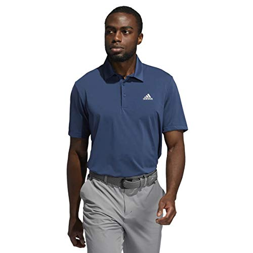adidas Golf Mens Ultimate365 Solid LC Polo Shirt Crew Navy L