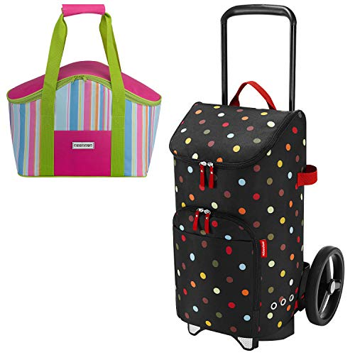 Reisenthel citycruiser Rack + citycruiser Bag 45 l Einkaufstrolley dots + Promo Zugabe