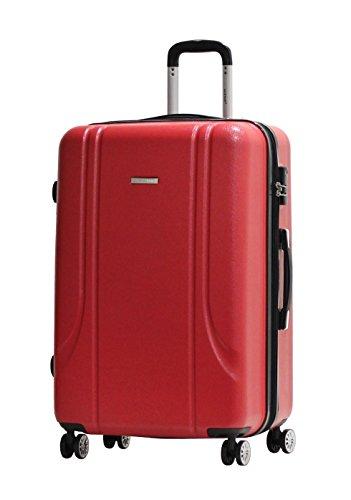 Valigia Formato L 75 centimetri -Trolley ALISTAIR Smart -ABS ultra leggero - 4 ruote - Rosso