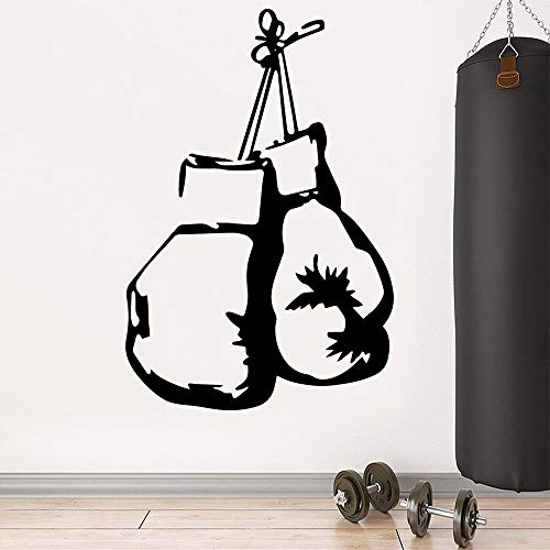 Crjzty Vinilo Motivadoras 57X85Cm Nuevo Boxeo Adhesivos De Pared Decoración para El Hogar Decoración PVC Tatuajes De Pared Decoración Accesorios Gimnasio Decoración Mural