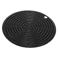 [ ル・クルーゼ ] Le Creuset 鍋敷き 20cm シリコン 鍋つかみ ブラック ROUND SILICON COOL TOOL black 93000230310200 おしゃれ シンプル キッチンツール [並行輸入品]
