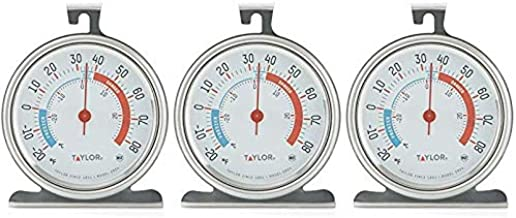 Taylor Classic Series Large Dial Fridge/Freezer Thermometer - 3 Pack