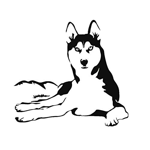 Pegatinas para coche con diseño de perro de animales de dos has, de risa feliz (color 1)