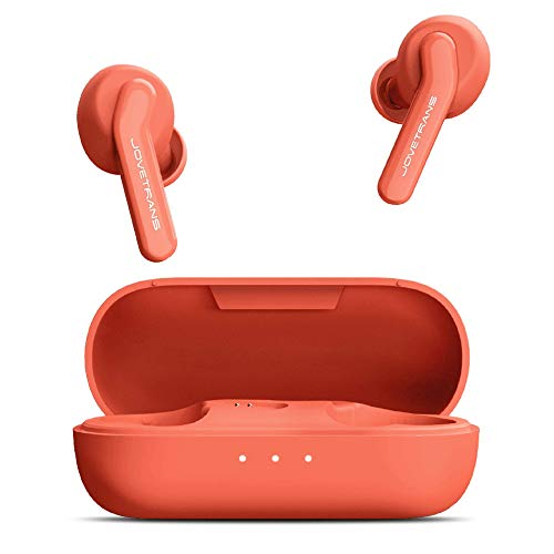 JoveTrans Lite Translator Earbuds, Portable Language Translator Device for On-The-Go Wireless Translation (Orange)