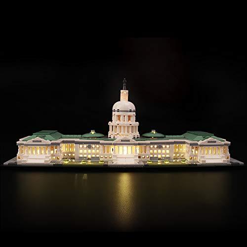 LIGHTAILING Licht-Set Für (Architecture Capitol) Modell - LED Licht-Set Kompatibel Mit Lego 21030(Modell Nicht Enthalten)