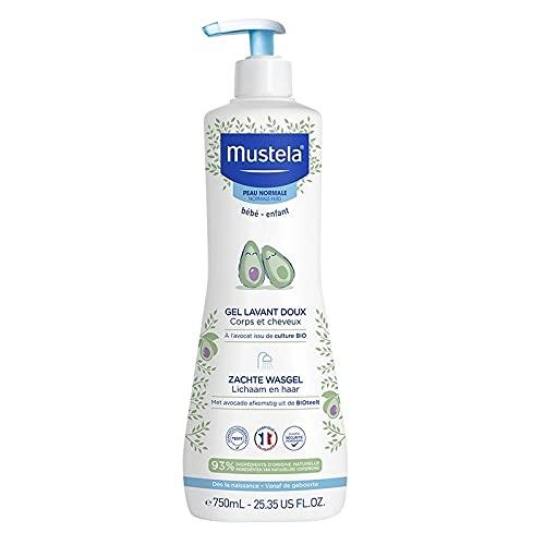 Mustela BÉBÉ gentle cleansing gel hair and body 750 ml