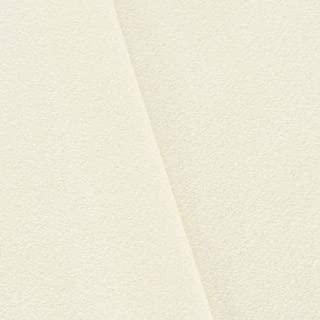 Ivory Brushed Wool Blend Basketweave Jacketing, Fabric by The Yard