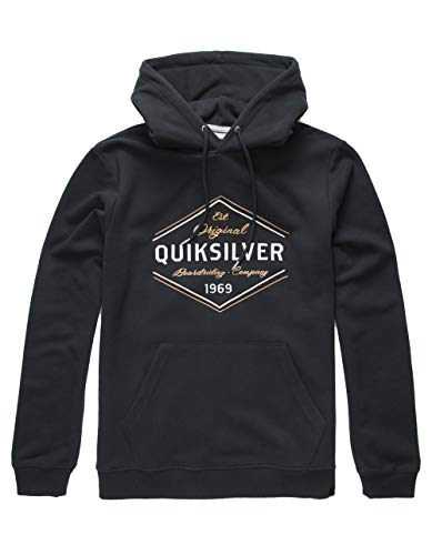 Quiksilver Herren Nowhere North Hood Fleece Hoddie Jacket Fleecejacke, schwarz, Klein
