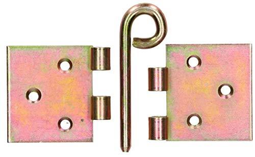 20 Scharniere Türscharniere Türband Retro 100 x 100 x 2mm Gelb Verzinkt