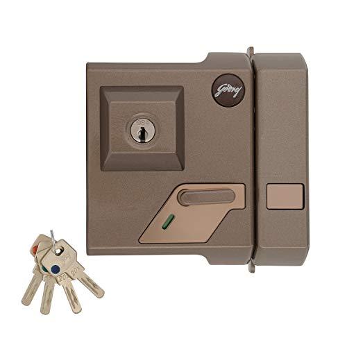 Godrej Locking Solutions and Systems 3234 Key Deadbolt Door Lock (Brown, Bronze Finish)