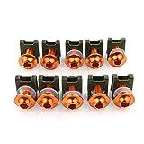 Diseño de Hardwearing Felicey Motorbike CNC 10PCS 6mm Clips de Cierre Tornillo Tuercas de Resorte para Ap.ri.la rsv4 Tuono 1000 r v4 rsv 1000 r (Color : Orange)