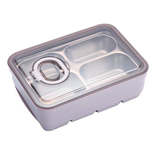 Bento lunchbox/lunchbox, Bento lunchboxen voor kinderen volwassenen, Japanse bento, BPA-vrij, herbruikbaar, portiecontrole, brooddoos, brooddoos, brooddoos, van roestvrij staal (3/4 vakken, 1,2 l)
