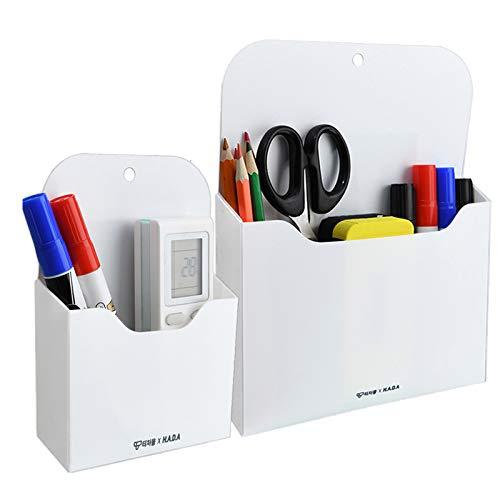 Magnetic Markers Pencil Holder Whiteboard Organizer Storage Pocket- Refrigerator Storage Pocket for Pen Pencils Markers Keys Not