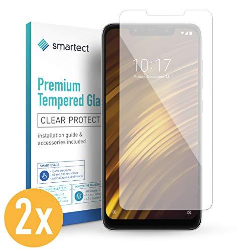 smartect Panzerglas kompatibel mit Xiaomi Pocophone F1 [2 Stück] - Displayschutz mit 9H Härte - Blasenfreie Schutzfolie - Anti Fingerprint Panzerglasfolie