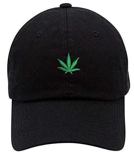 Top Level Apparel Marijuana Cannabis Unstructured Unisex Dad Hat Black