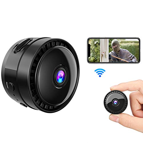 Mansso Mini Camera, 1080P Super Kleine WiFi Kamera, Tragbare HD Kamera mit Bewegungsmelder und Infrarot Nachtsicht, Compact Akku Kameras für Innen Aussen