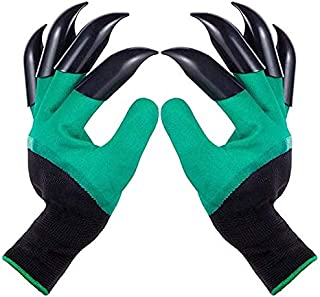 NUYIKA 3 Pair Garden Gloves with Claws, Waterproof Gardening Gloves for Digging Weeding Planting Gardening Tools, Fits for...