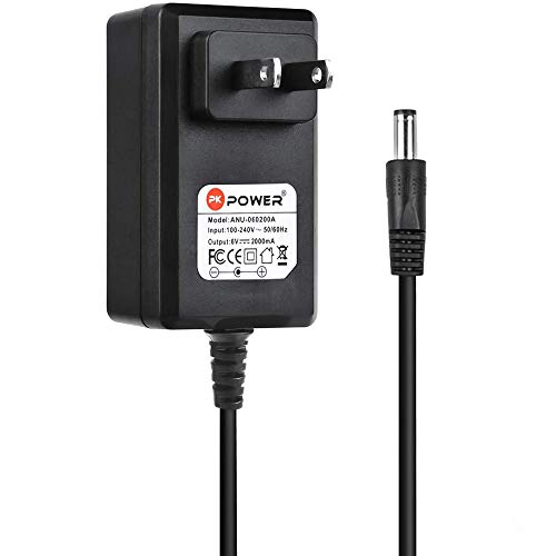 PKPOWER AC Adapter for Gold's Gym Spin 210 210U 290 290U 290C 230 230R 390 390R Stationary Bike Gym Power Spin Cycle Trainer 380 480 880 410 Elliptical GGEL63910 DC Charger