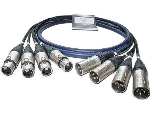 Designacable - Cables XLR (1 m, multinúcleo), color azul
