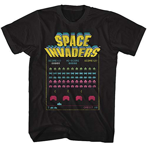 Officially Licensed Space Invaders T-shirt for Men, S to 6XL
