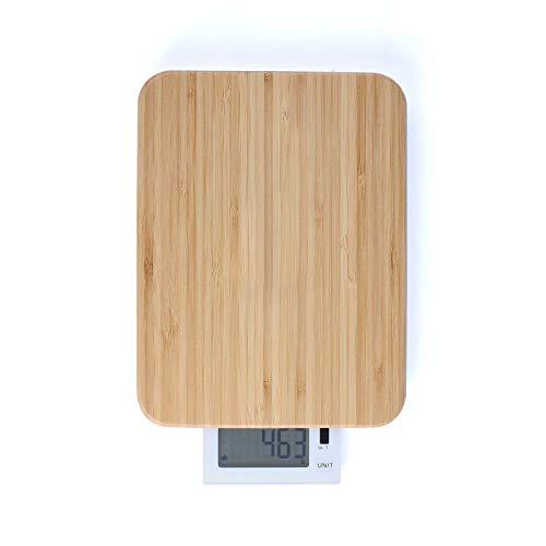 Küchenwaage Digital Schneidebrett mit Waage Bambus Holzbrett (LCD-Display, Zuwiegefunktion, Kapazität 10 kg)