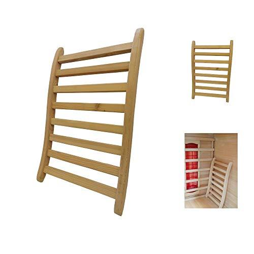 MASILY ergonomische Rückenlehne Sauna Infrarotkabine Wärmekabine Saunazubehör Holz