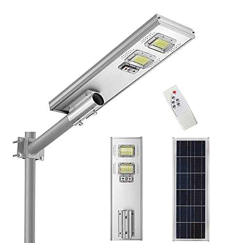 Solar Parking Lot Lights-10000LM LED Commercial Solar Street Light Dusk to Dawn with Radar Sensor and Remote Control, LOVUS, ST100-033