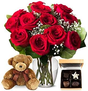 send roses and chocolates