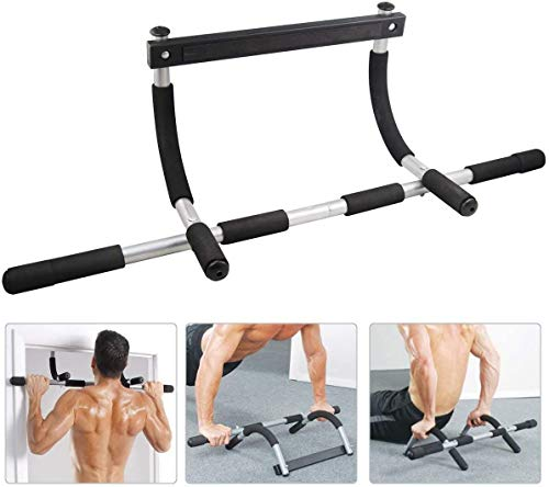 JJAI Chin up Bars, Pull Up Sit Up Door Bar, Portable Body Trainer Fitness Bar for Body Workout Doorway
