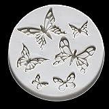 xiaoli Creative Butterfly Forma Molde de Silicona Fondant Vela Molde Moldes de Resina Bricolaje Torta casera Decora Accesorios de Cocina (Color : 1pc Random Colour)