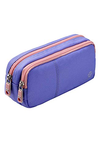 Pencil Case Pencil Pouch with 2 Compartments Stationery Bag Pencil Bag for Teens Girls Students Art School and Office Supplies (Light Purple)