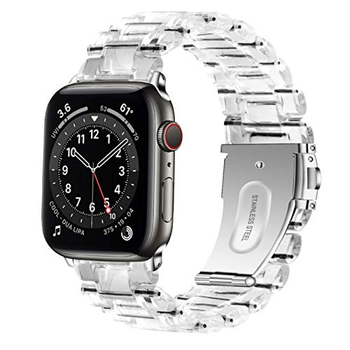 Para Apple Watch 6 Se Band Series 5 4 3 Pulsera de eslabones Para Iwatch Bands Correa transparente Correa ligera