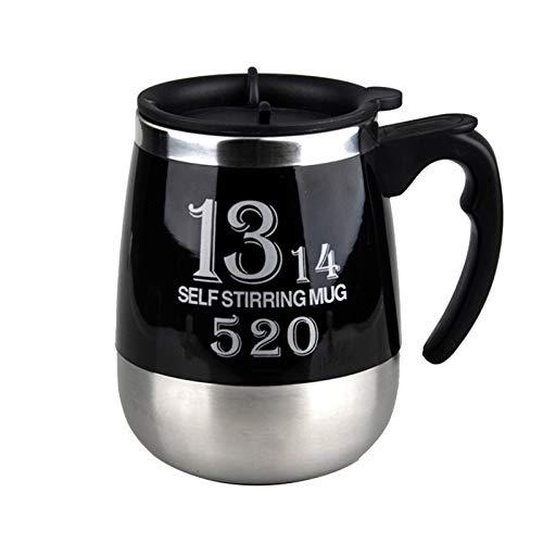 Lazy - Taza de café automática de acero inoxidable electromagnética giratoria taza de café magnética taza de regalo