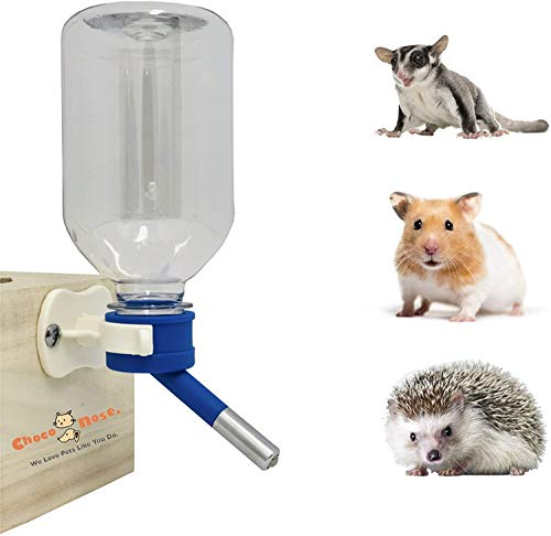 Botella de Agua sin Goteo para hámster, El mejor alimentador de Agua para Mascotas de tamaño pequeño para Hámster / Erizo / Planeador de azúcar / Rata / Ratones, 11,2 onzas