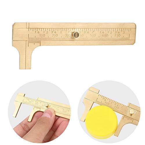 CuiGuoPing Mini Messschieber, Metall Messing Schieblehre, Mikrometer, 80MM