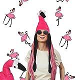 Relaxdays 10024292 Flamingo Hut, Tiermütze, Flamingomütze, für Erwachsene, zum Fasching oder...