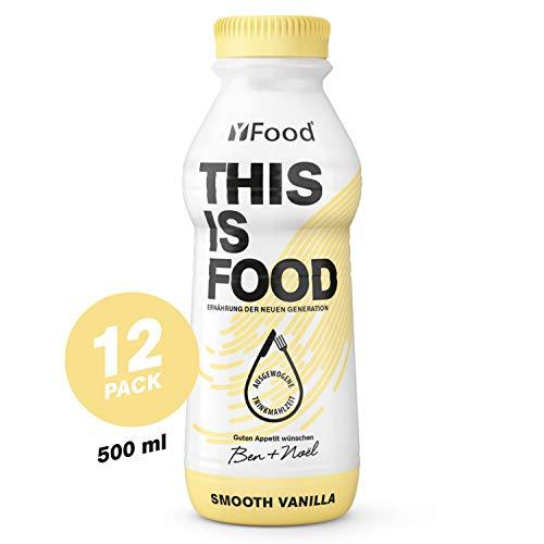 YFood Vanille | Laktose- und glutenfreier Nahrungsersatz | 34g Protein, 26 Vitamine...