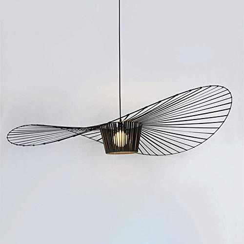 Lampe à Suspension Lustre De Salon Vintage Lampe à Suspension LED Vertigo Lampe à Suspension En Fibre De Verre / Polyuréthane E27 Pour Abat-jour, Restaurant, Bar, Café, Noir, 120cm